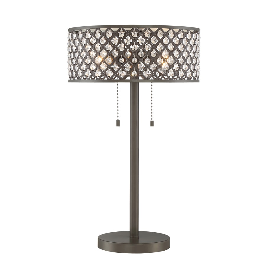 Quoizel Juliana 24.375-in Bronze Indoor Table Lamp with Metal Shade