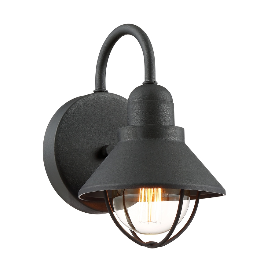 Shop Quoizel Cape Cod 9 5 In H Black Outdoor Wall Light At