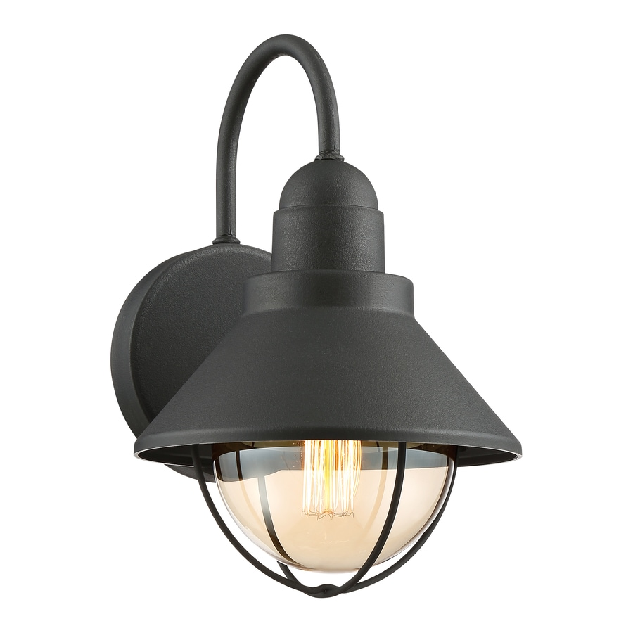 Quoizel Cape Cod 12-in H Black Outdoor Wall Light