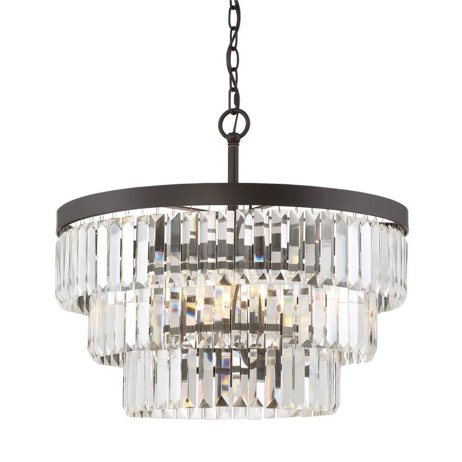 Quoizel Valentina 20.5-in Bronze Crystal Multi-Light Crystal Pendant