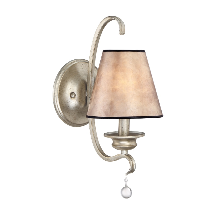 Shop Quoizel Jenna 5.5-in W 1-Light Painted vintage gold Arm Wall Sconce at Lowes.com
