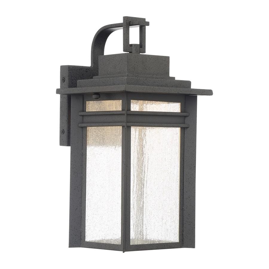 Outdoor Wall Lights Beacon Lighting: Quoizel Beacon 14-in H Stone Black LED Outdoor Wall Light