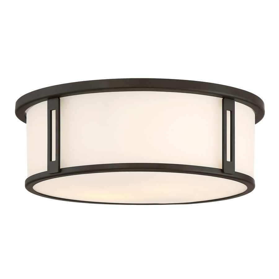 Quoizel Harbor 12 91 In W Bronze Flush Mount Light