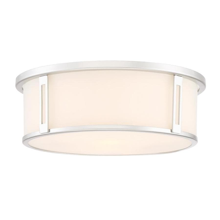Quoizel Harbor 12 91 In Silver Modern Contemporary Flush Mount Light In The Flush Mount Lighting Department At Lowes Com