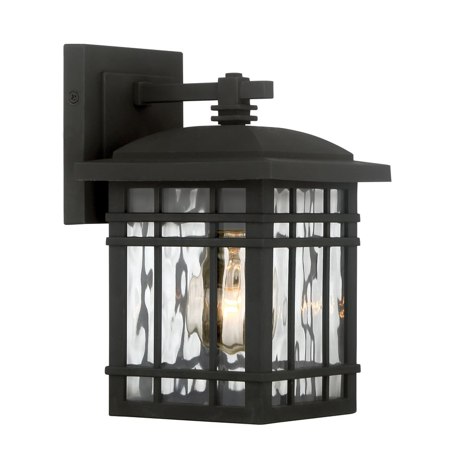 Quoizel Canyon 9.25-in H Matte Black Outdoor Wall Light