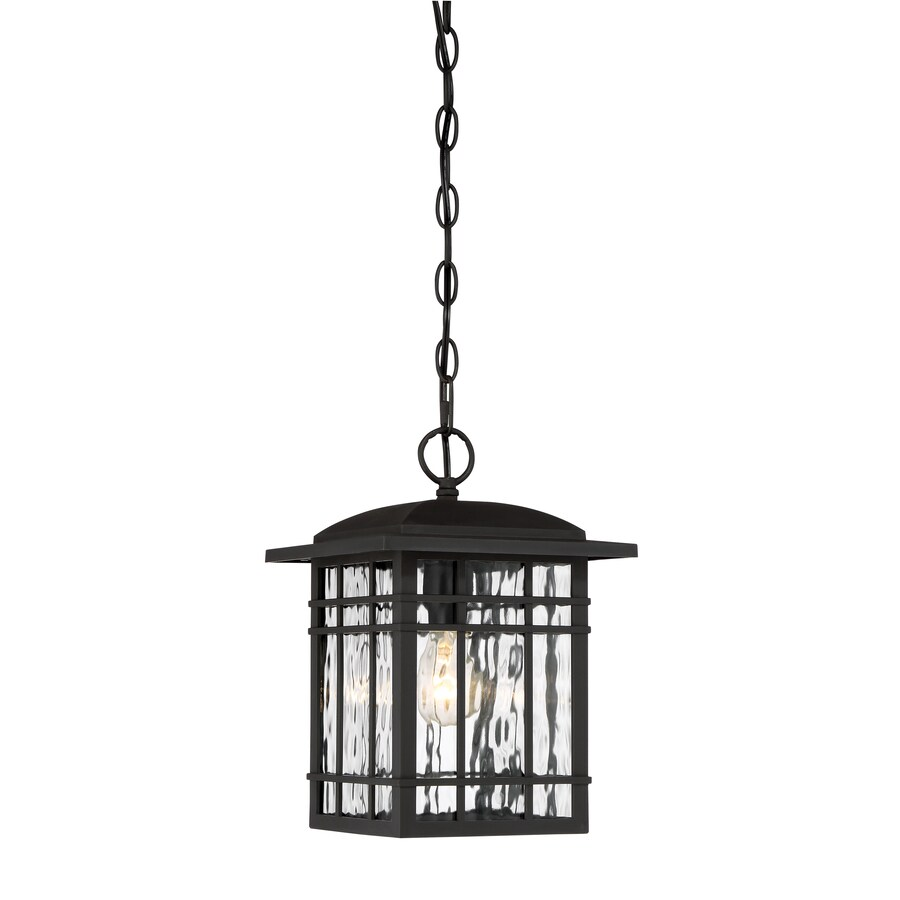 Captivating Quoizel Canyon 13 In Black Outdoor Pendant Light