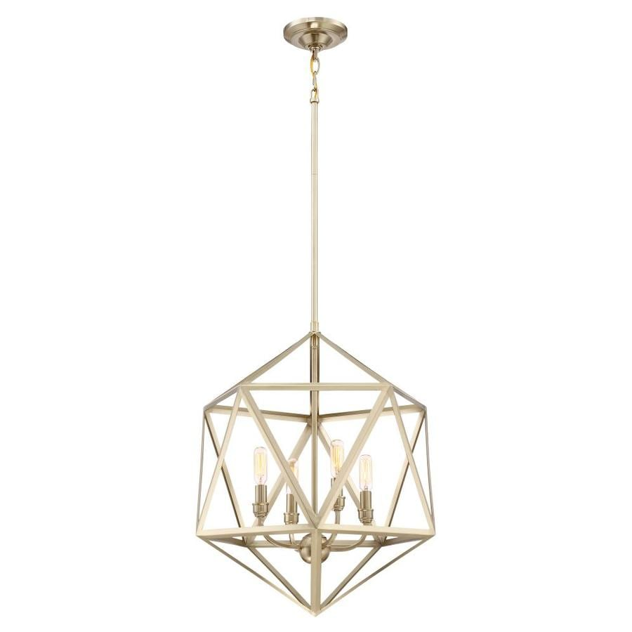 Quoizel Liberty Park 18-in Gold Hardwired Multi-Light Pendant