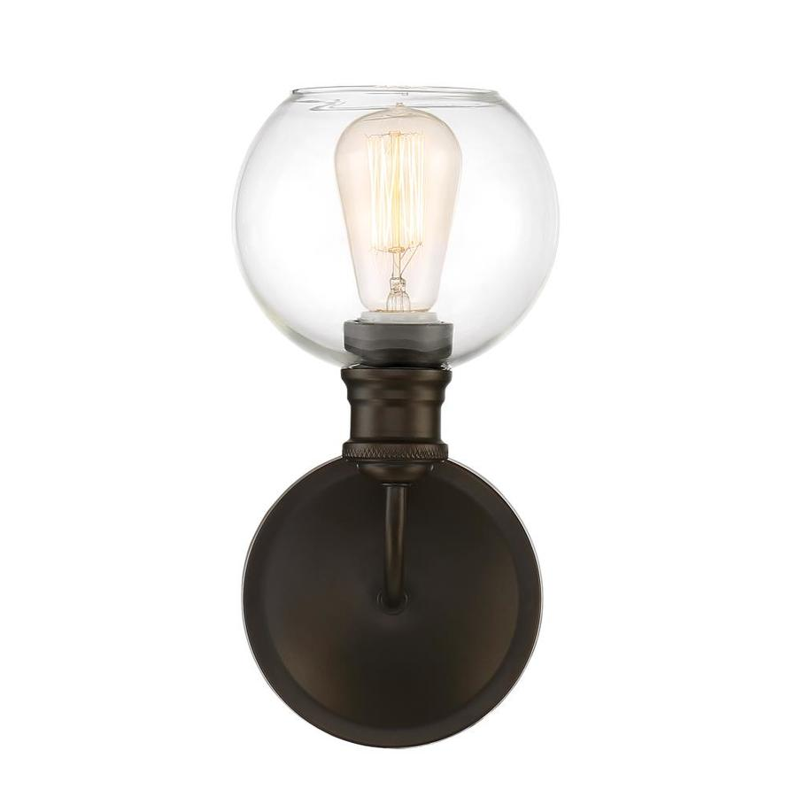 Quoizel Soho 1-Light 12-in Bronze Globe Standard Vanity Light