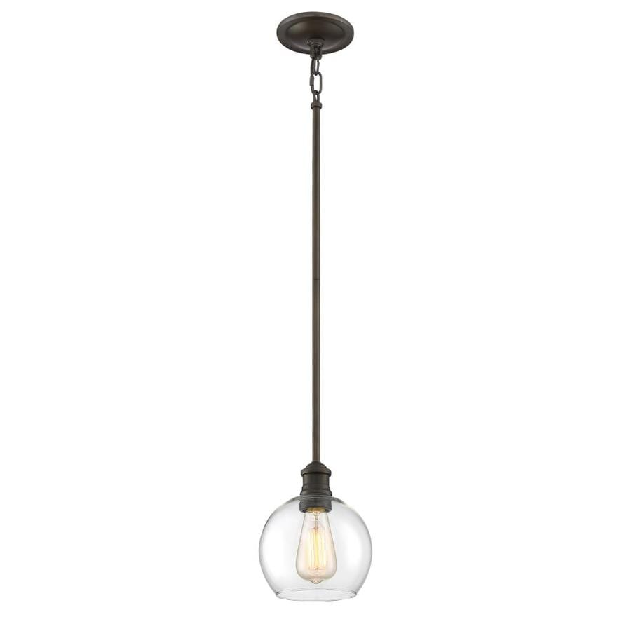 Quoizel Soho 6.87-in Bronze Hardwired Mini Clear Glass Pendant