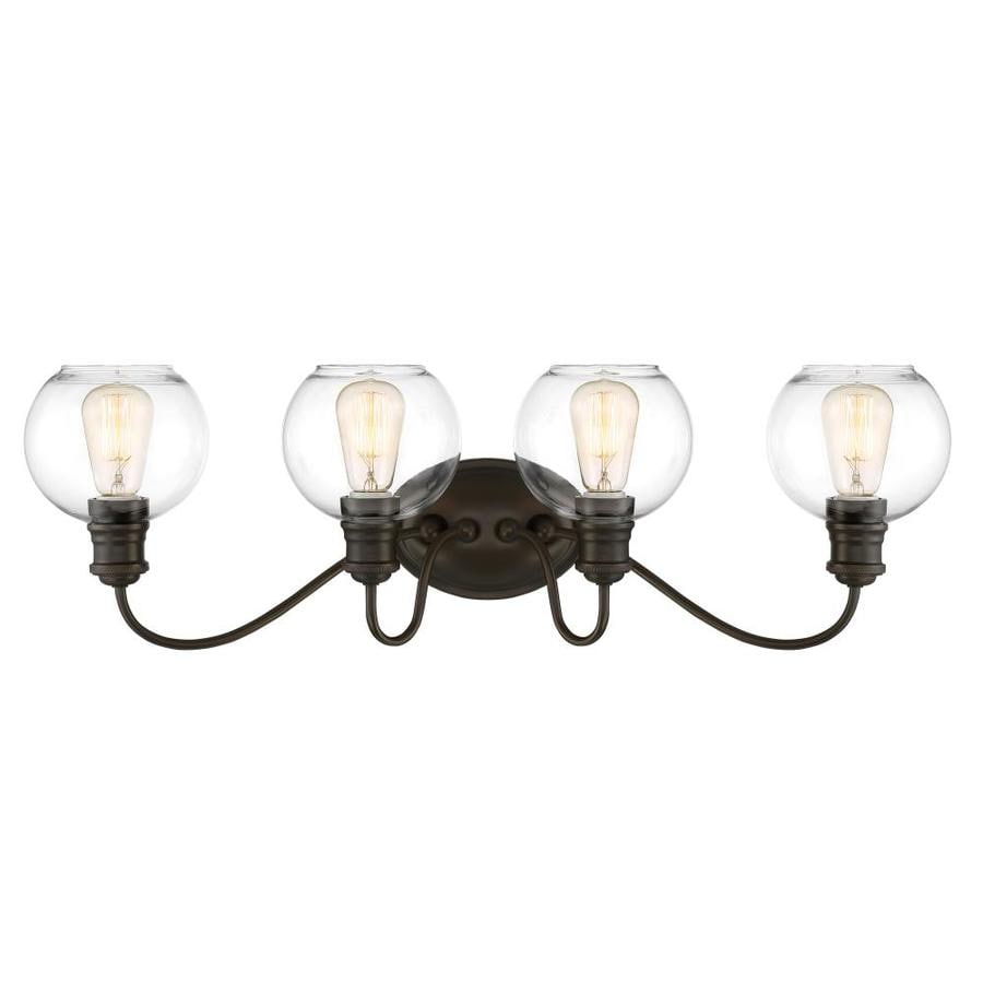 Quoizel Soho 4-Light 9.5-in Bronze Globe Vanity Light