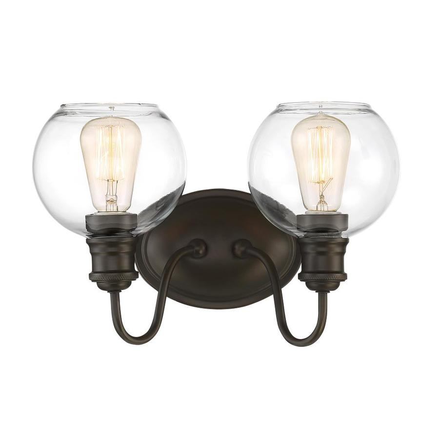 Quoizel Soho 2-Light 9.5-in Bronze Globe Standard Vanity Light