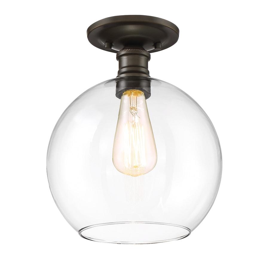 Quoizel Soho 9.75-in W Bronze Flush Mount Light