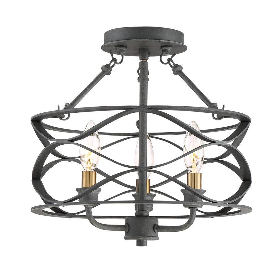 shop quoizel unity 13 in w mottled black with brass no glass semi
