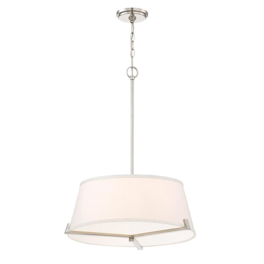 Quoizel South Beach 20.5-in Brushed Nickel Hardwired Multi-Light Pendant