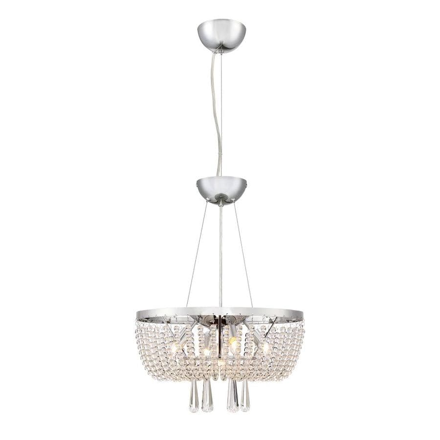 Quoizel Chateau 16.5-in Polished Chrome Hardwired Multi-Light Clear Glass Pendant