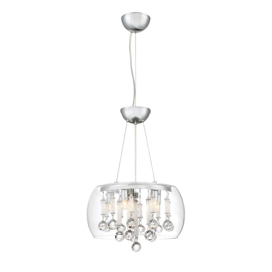 Quoizel Gentry 15.75-in Polished Chrome Hardwired Multi-Light Clear Glass Pendant