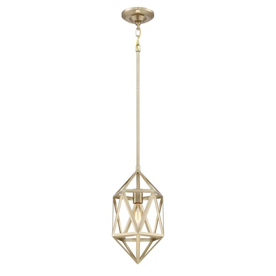 Quoizel Liberty Park 8-in Gold Hardwired Mini Pendant