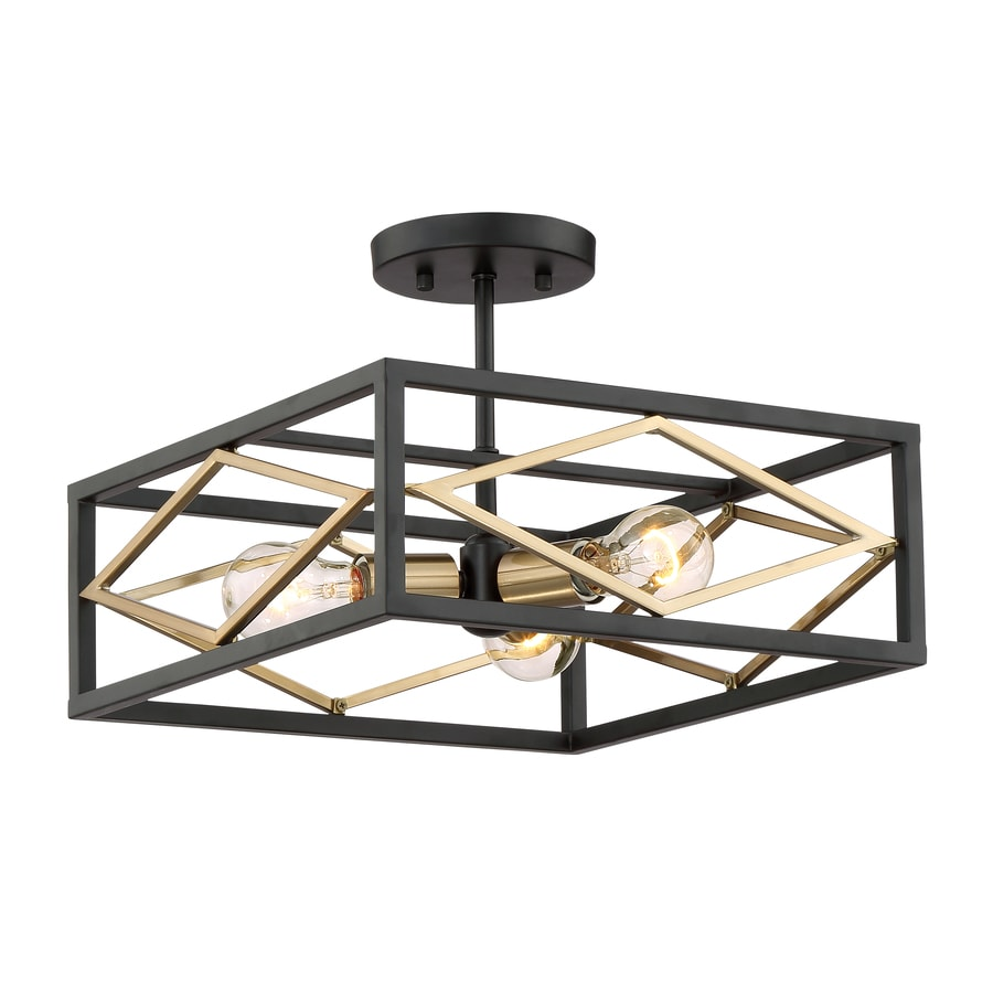 gold flush mount light quoizel liberty park quoizel platform 14in black with gold no glass semiflush mount light