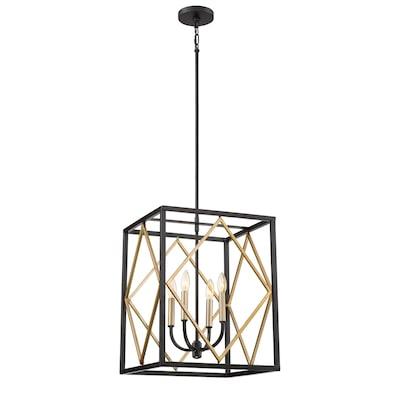 Platform Black With Gold Multi Light Transitional Pendant