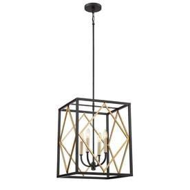quoizel pendant lighting rustic quoizel platform black with gold multilight transitional pendant shop lighting at lowescom