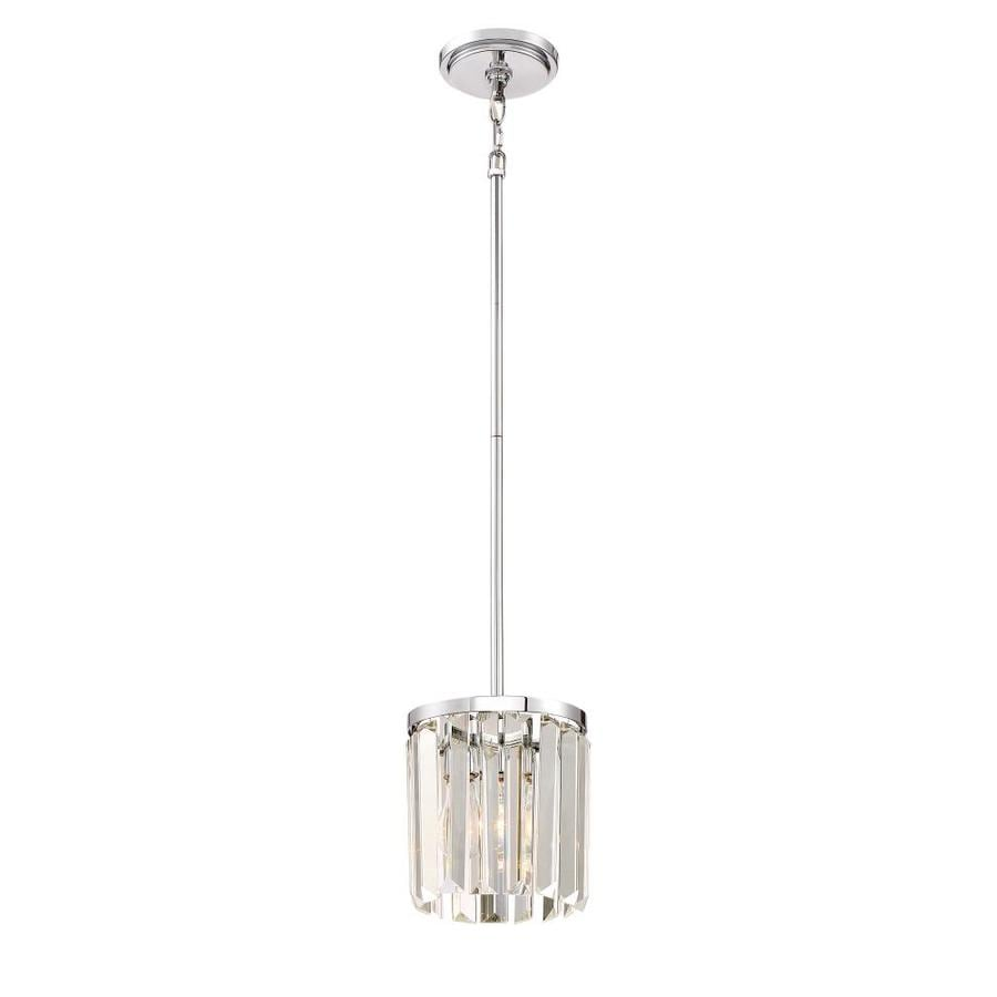 Quoizel Valentina 7.5-in Polished Nickel Hardwired Mini Clear Glass Pendant
