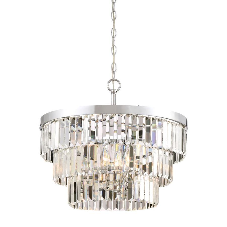 Quoizel Valentina 15.5-in Polished Nickel Hardwired Multi-Light Clear Glass Pendant