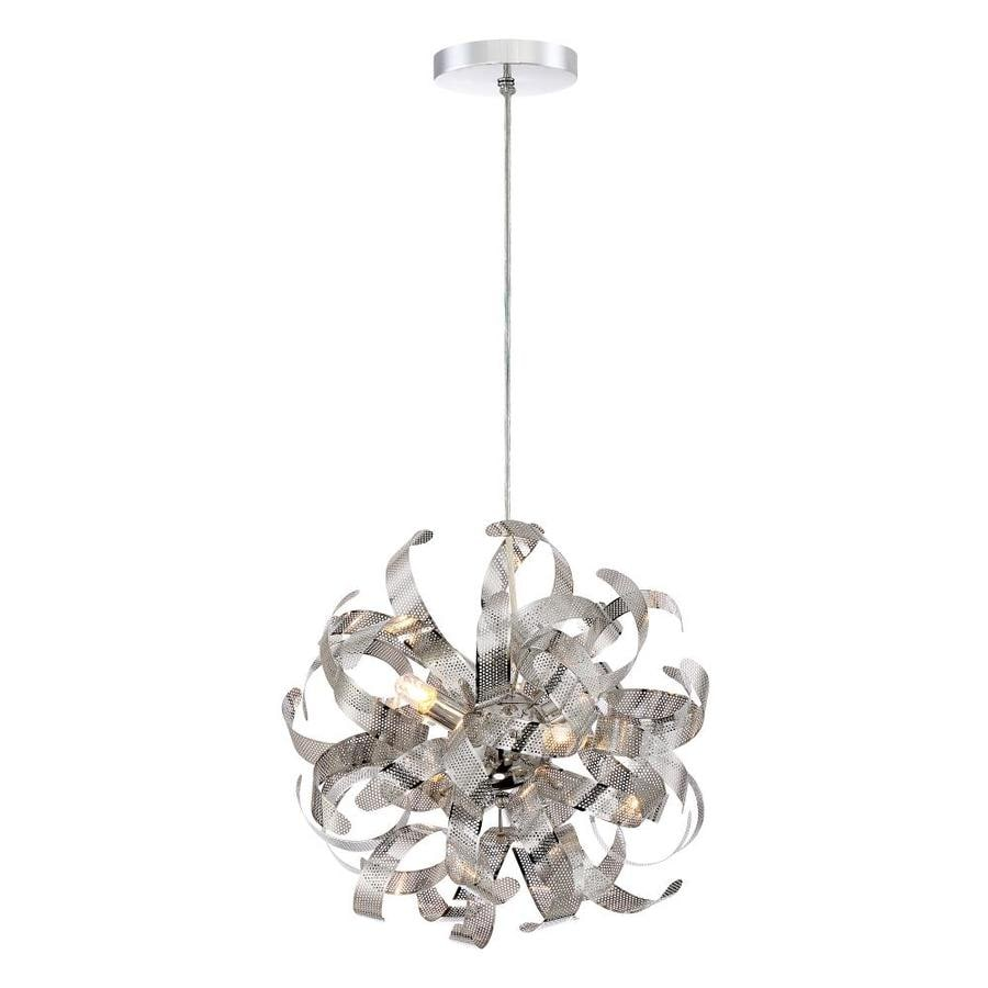 Quoizel Lace 15-in Polished Chrome Hardwired Multi-Light Pendant