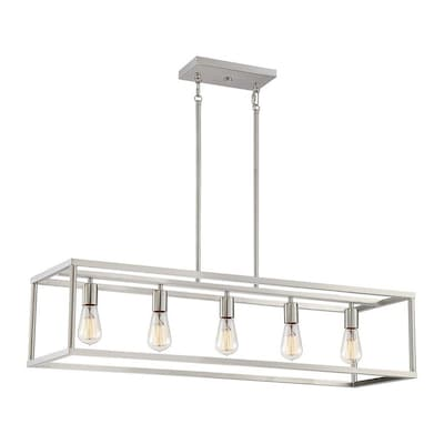 Quoizel New Harbor Brushed Nickel Kitchen Island Light