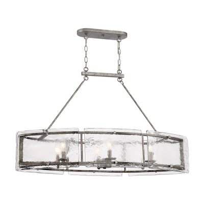 Quoizel Fortress Mottled Silver Kitchen Island Light