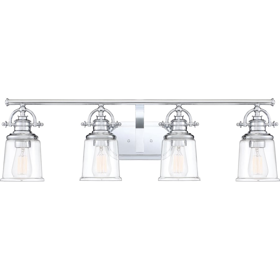 Quoizel Grant 4 Light Chrome Transitional Vanity Light In The Vanity Lights Department At Lowes Com
