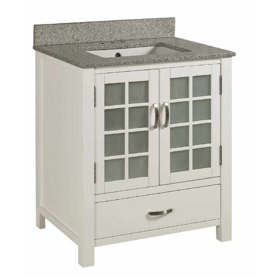 Shop Allen Roth Wynn Single Sink Bathroom Vanity with Top