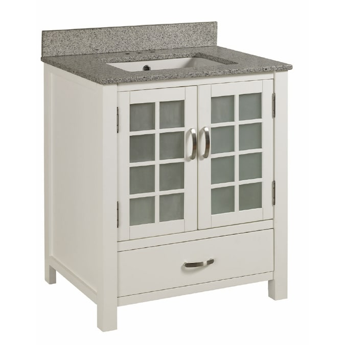 Allen Roth Wynn Single Sink Bathroom Vanity With Top In The Bathroom Vanities With Tops Department At Lowes Com
