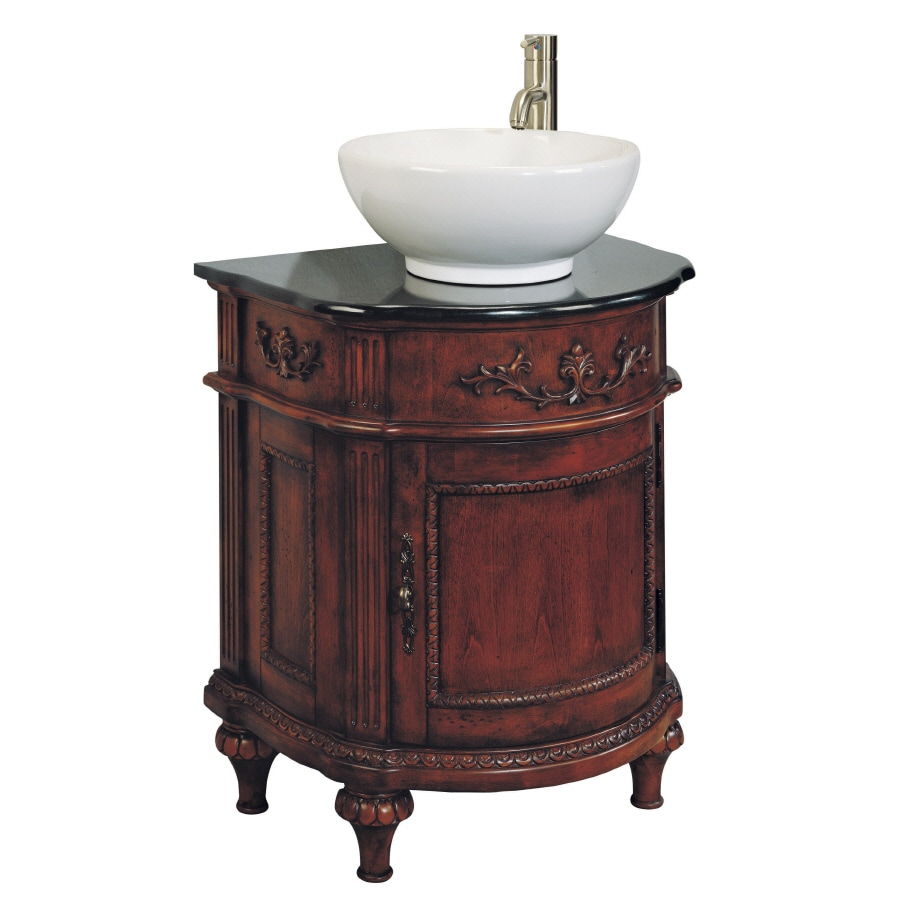 Bathroom Vanity With Bowl On Top : Shop allen + roth 26-in Single Sink Bathroom Vanity with Top (Faucet ...