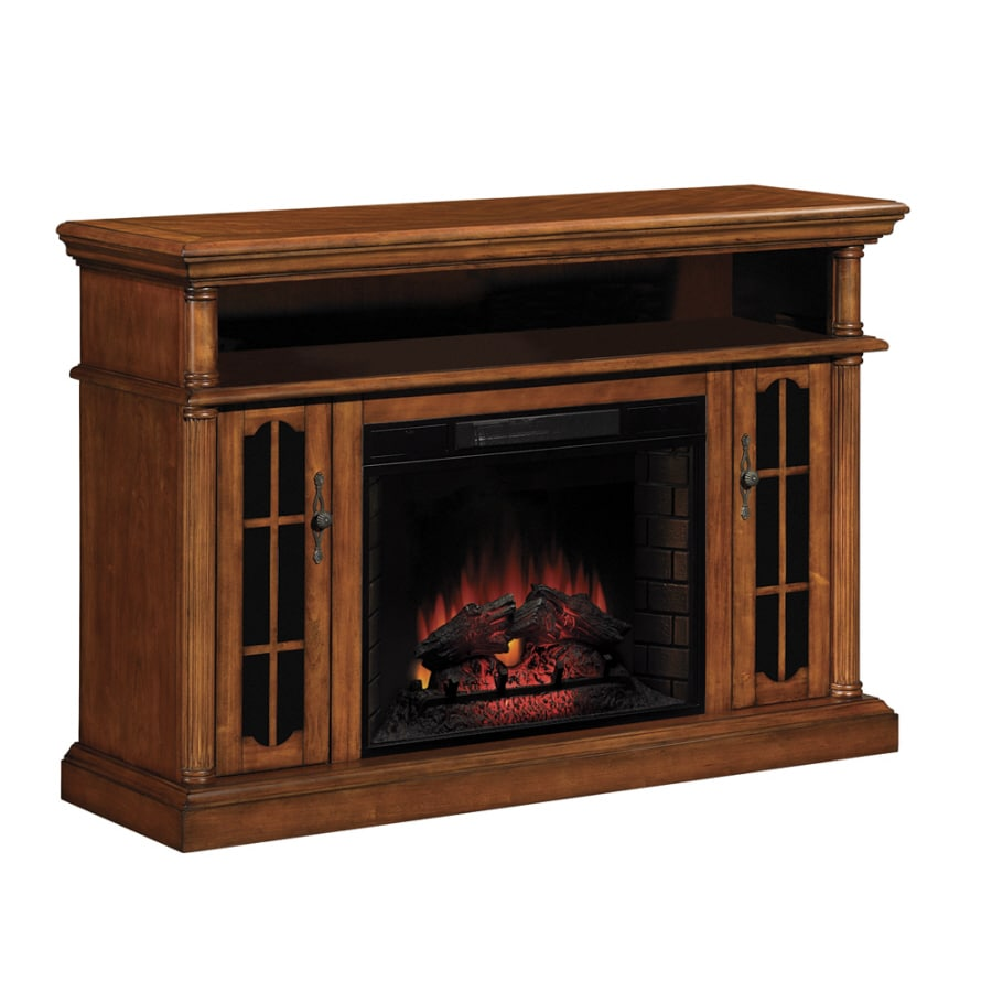 Shop allen + roth 60-in sienna electric fireplace at Lowes.com