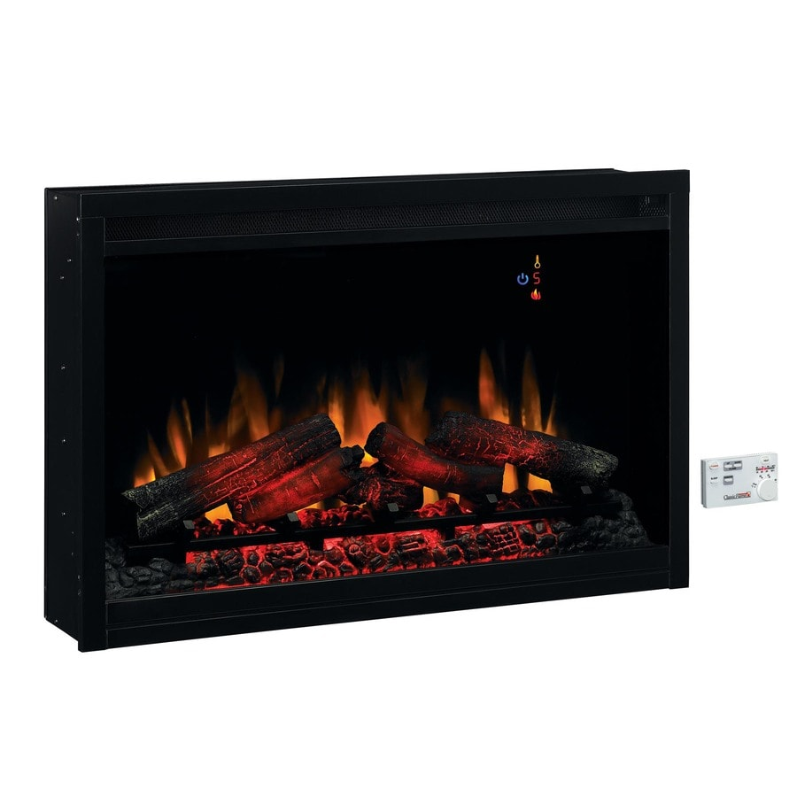 Plug In Electric Fireplace Inserts: ClassicFlame 36-in Black Electric Fireplace Insert At