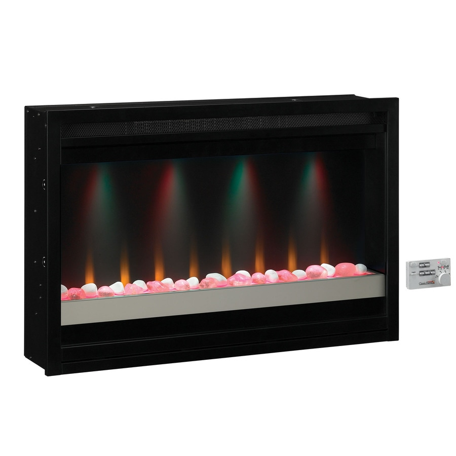 Shop ClassicFlame 36-in Black Electric Fireplace Insert at ...