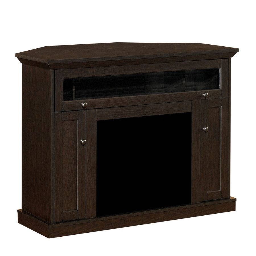 ClassicFlame Windsor Oak Espresso Rectangular Fireplace TV Stand