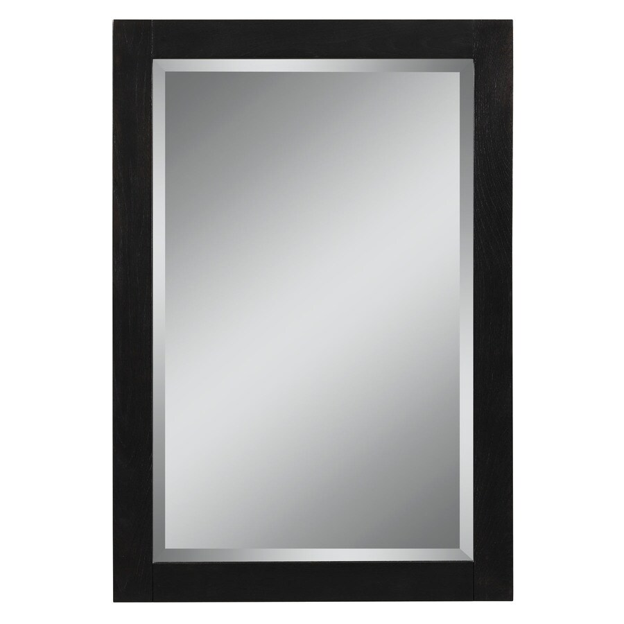 Style Selections Foley 22-in W x 32-in H Espresso Rectangular Bathroom Mirror