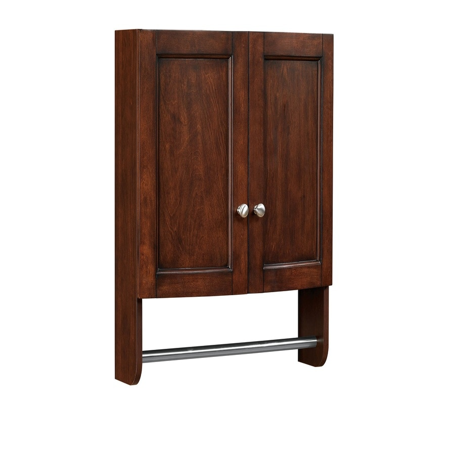 Shop allen roth moravia 22 in w x 25 in h x d for Toilet furniture cabinet