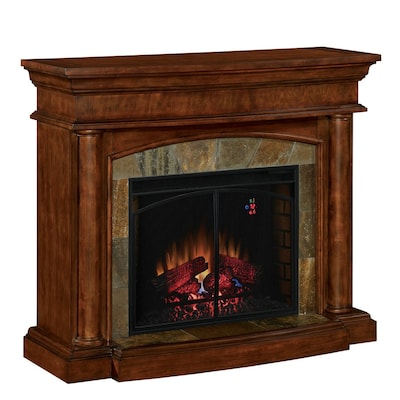 Allen Roth 4600 Btu Electric Fireplace With Remote At Lowes Com