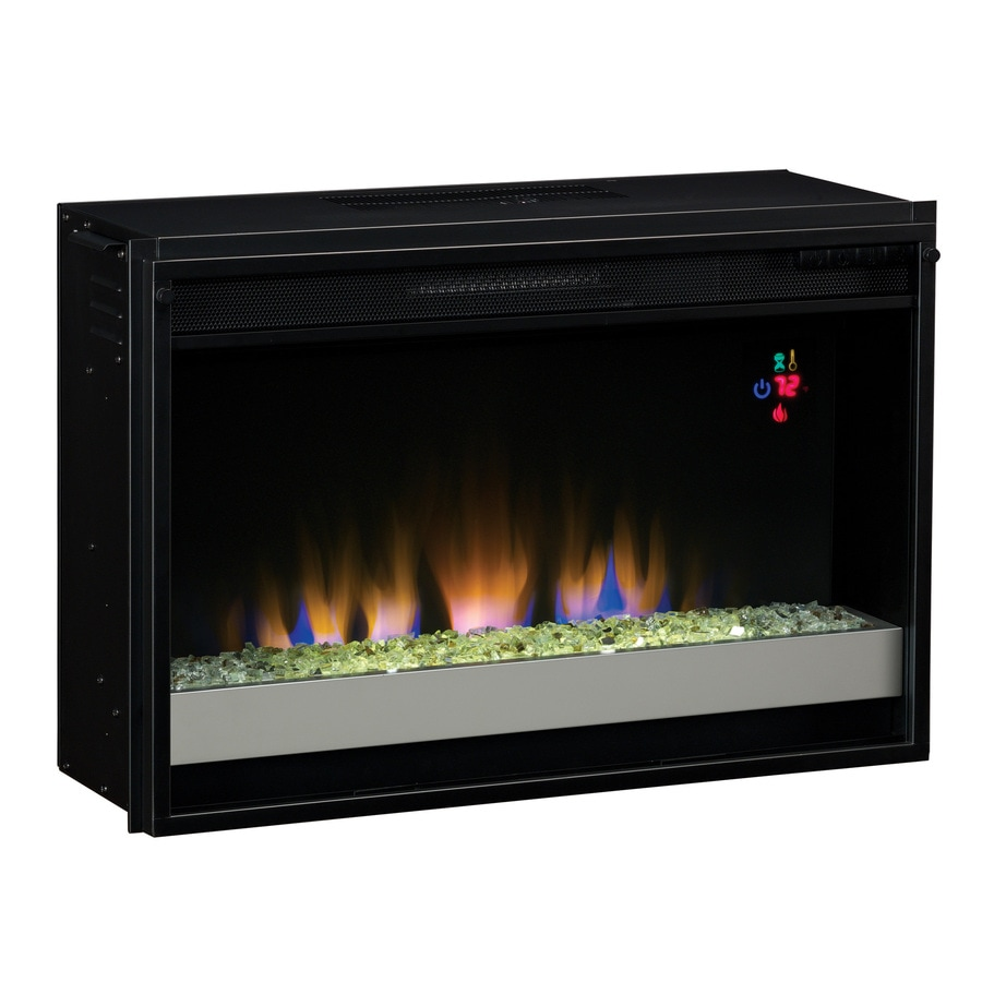 shop 27 in black electric fireplace insert at lowes com