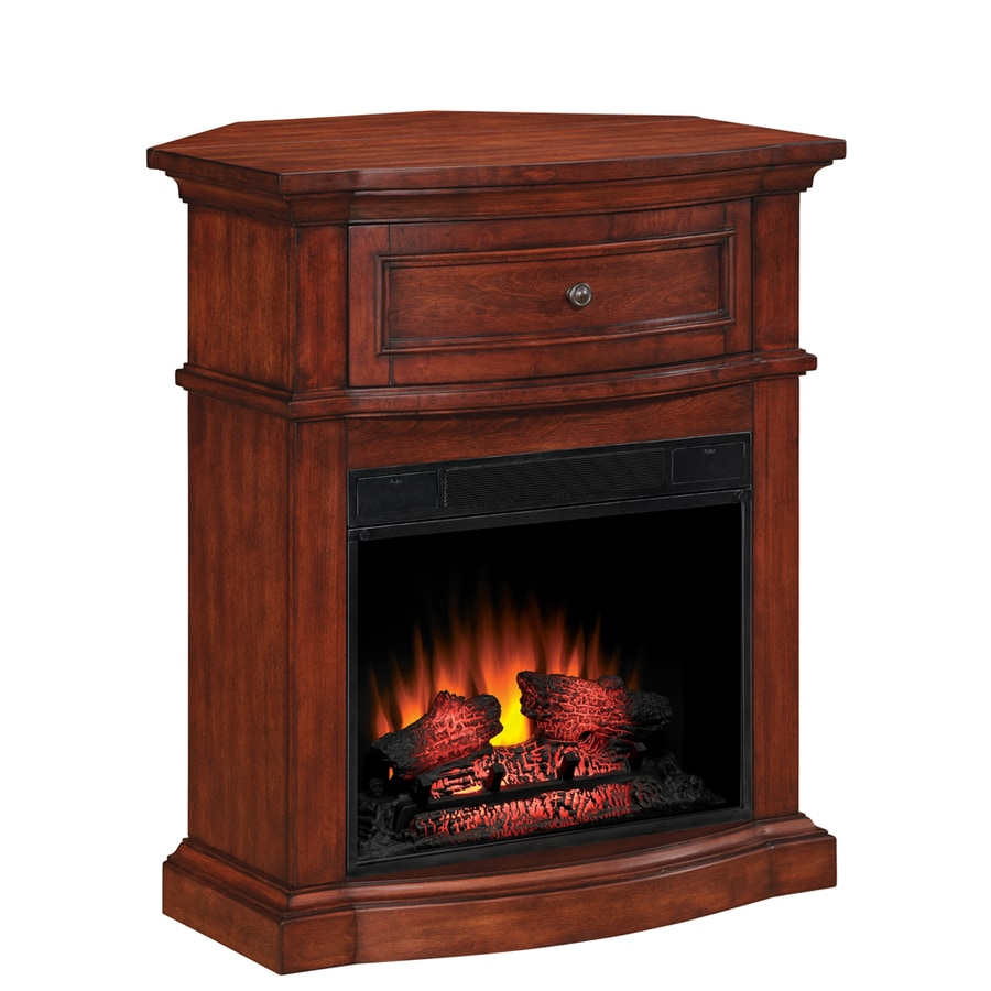 Style Selections 32-in Empire Cherry Corner Electric Fireplace