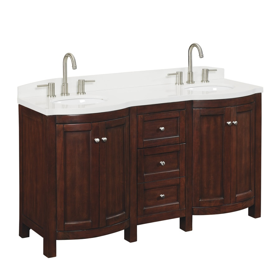 Shop Allen Roth Moravia Sable Undermount Double Sink Birch