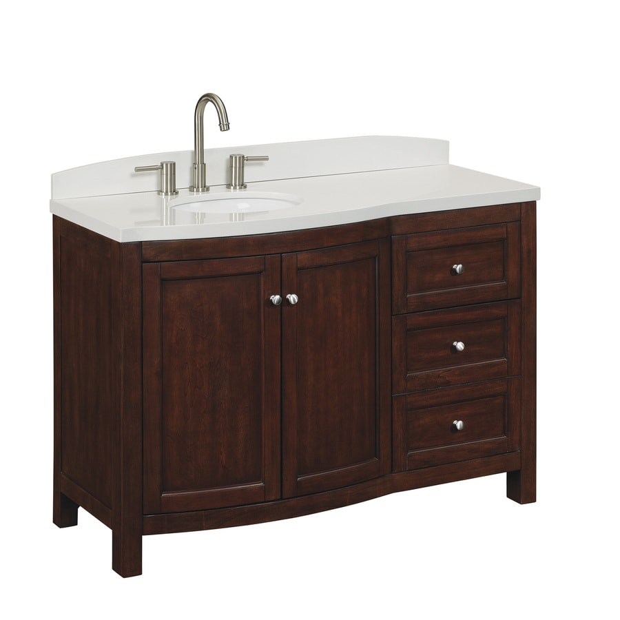 allen + roth Moravia Sable Undermount Single Sink Birch Bathroom Vanity with Engineered Stone Top (Common: 48-in x 20-in; Actual: 48-in x 20-in)