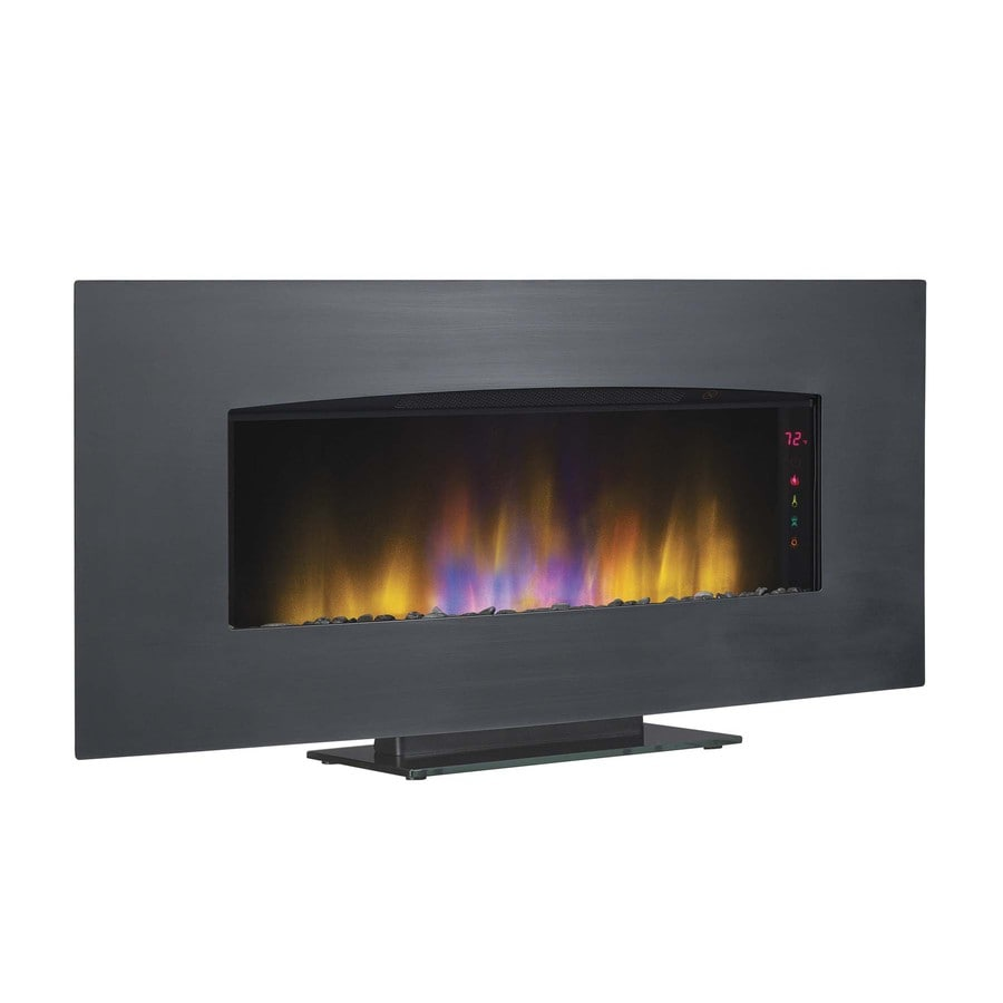 40.39-in Black Electric Fireplace Insert