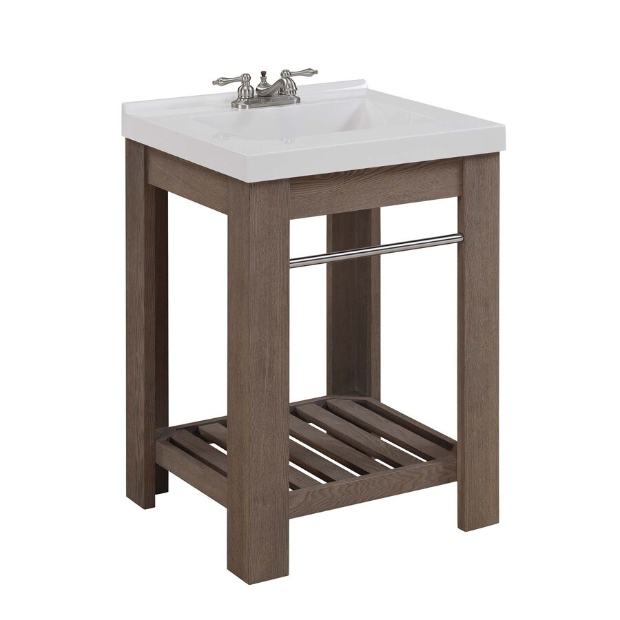Bathroom Vanity 24 X 21 shop allen + roth strabury specialty driftwood integral single