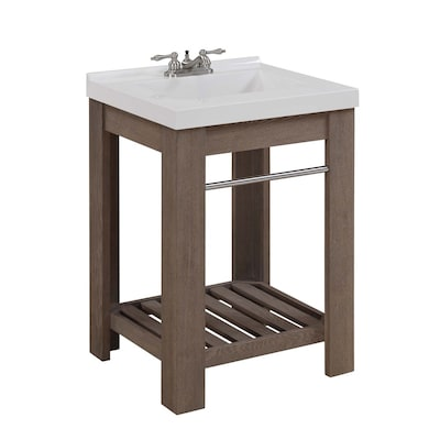 Sensational Strabury Specialty Driftwood Integral Single Sink Bathroom Vanity With Cultured Marble Top Common 24 In X 21 In Actual 24 In X 21 5 In Beatyapartments Chair Design Images Beatyapartmentscom