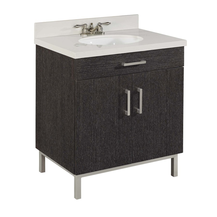 Style Selections Bradstreet Driftwood Undermount Single Sink Bathroom Vanity  with Cultured Marble Top Actual  Shop. Driftwood Bathroom Vanity