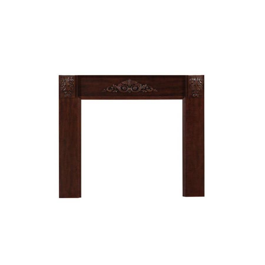 allen + roth 62.5-in W x 43.5-in H Cherry Poplar Traditional Fireplace Surround