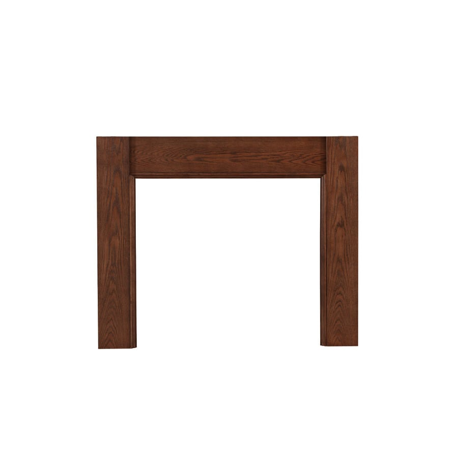 Shop allen + roth 65.25-in w x 43.25-in h oak ash traditional fireplace surround at Lowes.com